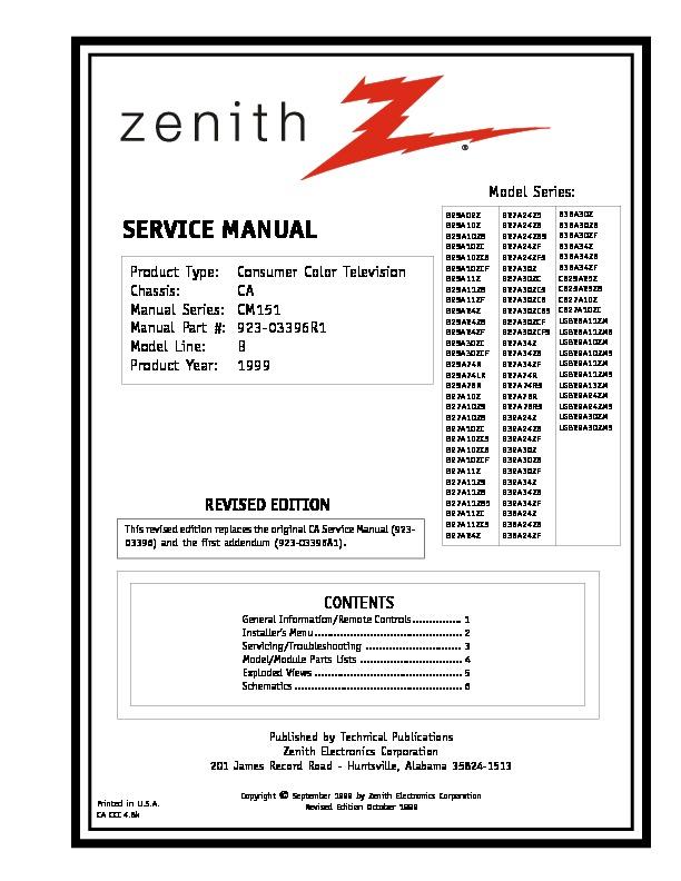 Zenith B25 27A11 Chasis CA.pdf
