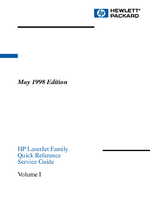 Hp Laserjet Family Quick Reference Service Guide Vol 1 Servicemanual.pdf