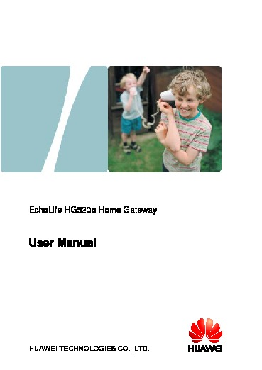 EchoLife HG520b Home Gateway User Manual.pdf