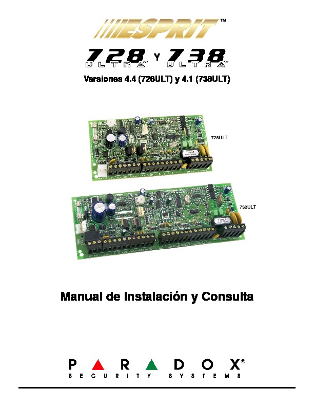 PARADOX Esprit 7X8 ULT Manual de instalacion.pdf