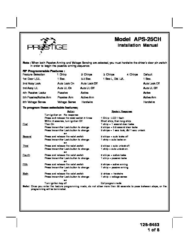 PRESTIGE model aps25.pdf