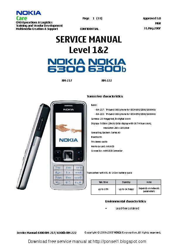 Nokia 6300 Service Manual.pdf