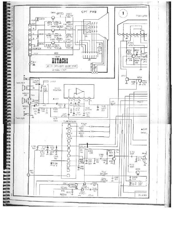 hitachi hitachi cpt 1420r 1  pdf diagramas de televisores