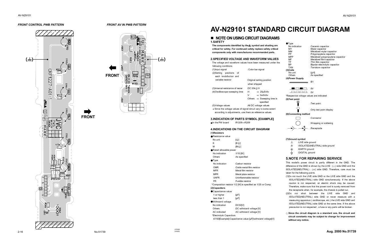 Jvc Av N29101 Av N29101sch Pdf Diagramas De Televisores