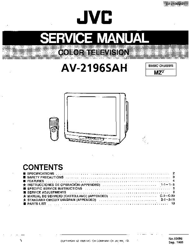 Jvc Av 2196 Av2196sah Jvc Tv Pdf Diagramas De Televisores
