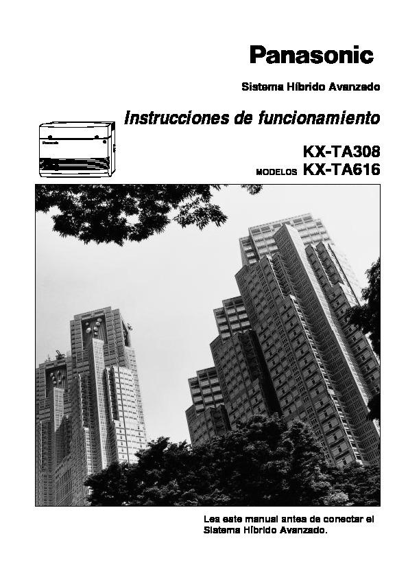 Instrucciones de funcionamiento KX-TA308 MODELOS KX-TA616.pdf