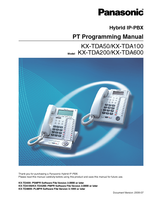 panasonic kx td816 programming manual
