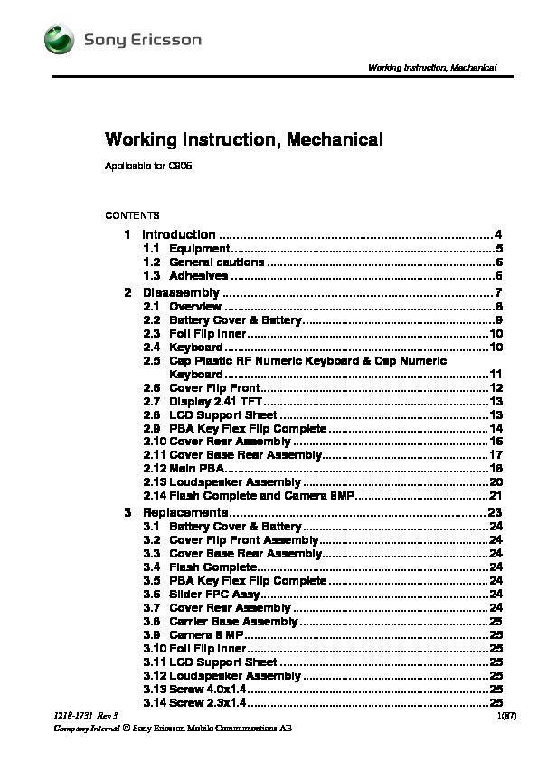 sony ericsson c905 disassembly pdf diagramas de celulares