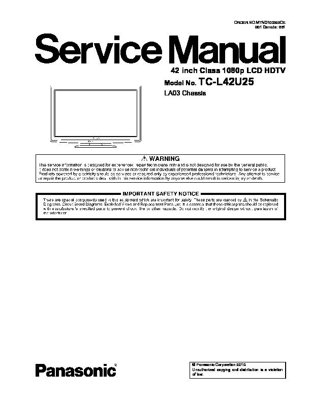 Panasonic TC - L42U25 Chasis LA03.pdf