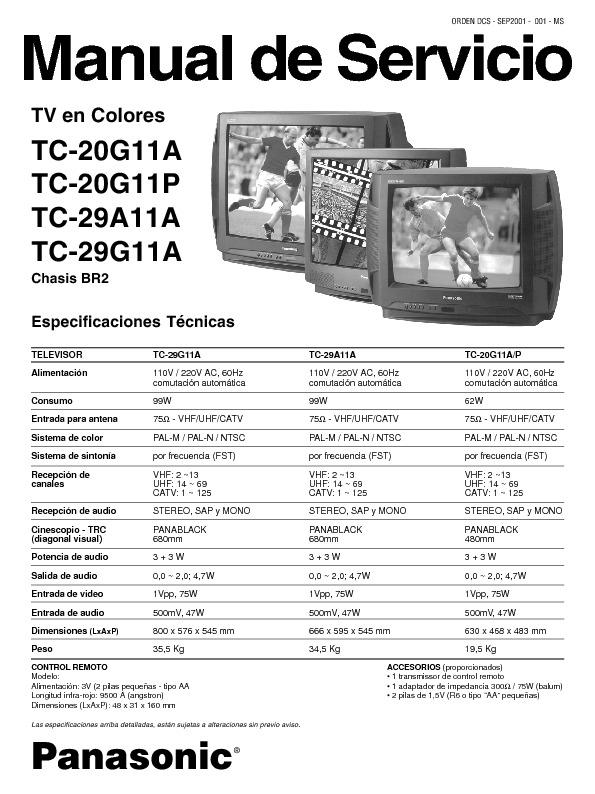 panasonic panasonic tc 20 29g11a pdf diagramas de televisores lcd y plasma