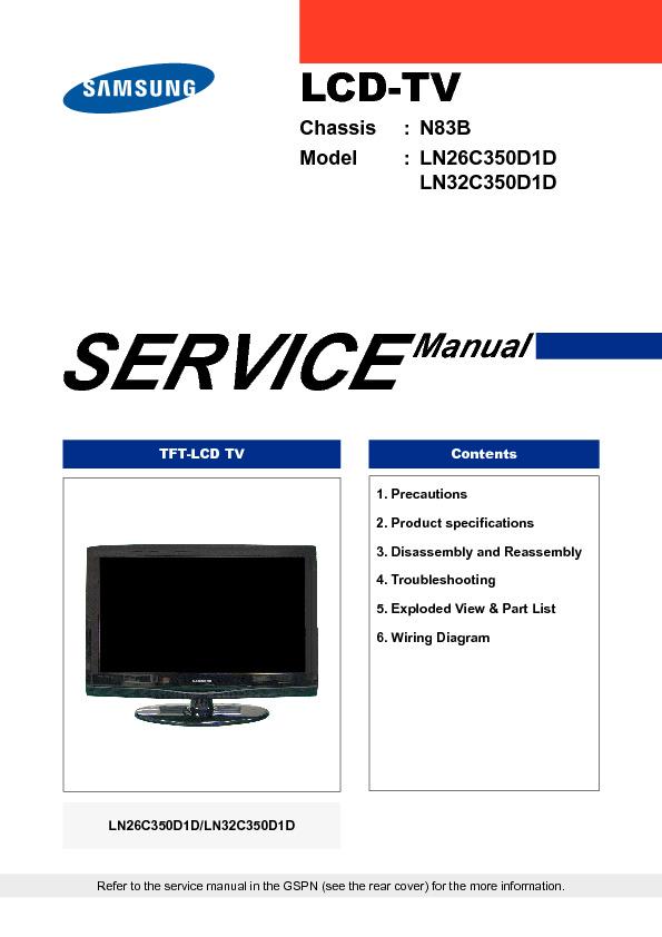 samsung 9619 samsung ln26c350d1d ln32c350d1d chassis n83b televisor rh diagramasde com