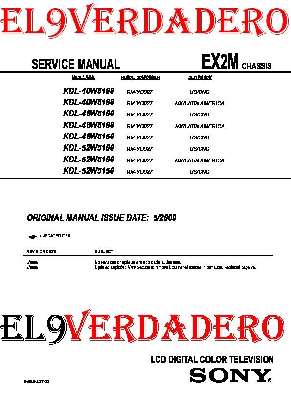 KDL-40W5100_46W5100_46W5150_52W5100_52W5150 Chassis EX2M.pdf