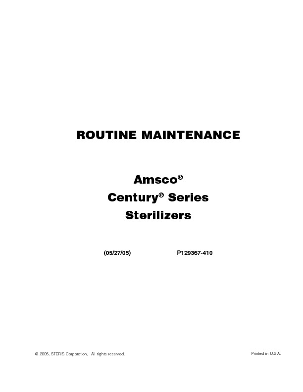 Century Small Routine Maintenance P129367-410.pdf