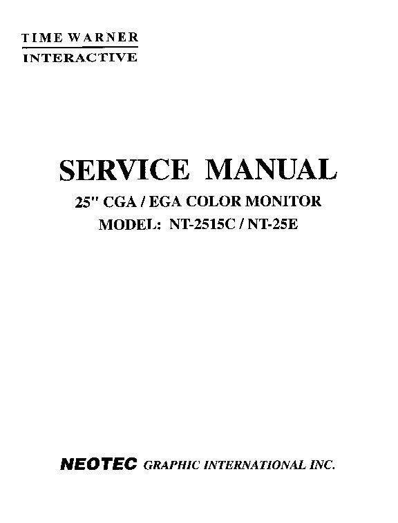 Neotec NT-2515C NT-25E 25in EGA-CGA Color Monitor [Service] [English].pdf