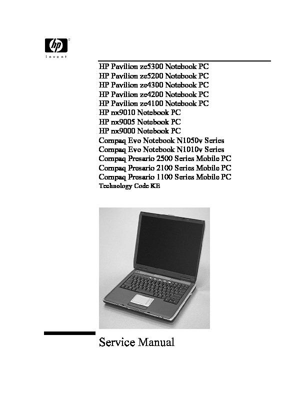HP Pavilion ze4300 Notebook PC service manual.pdf