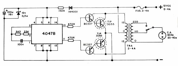 Circuito Ups 12v : Varios lumagui circuito inversor v cc ac