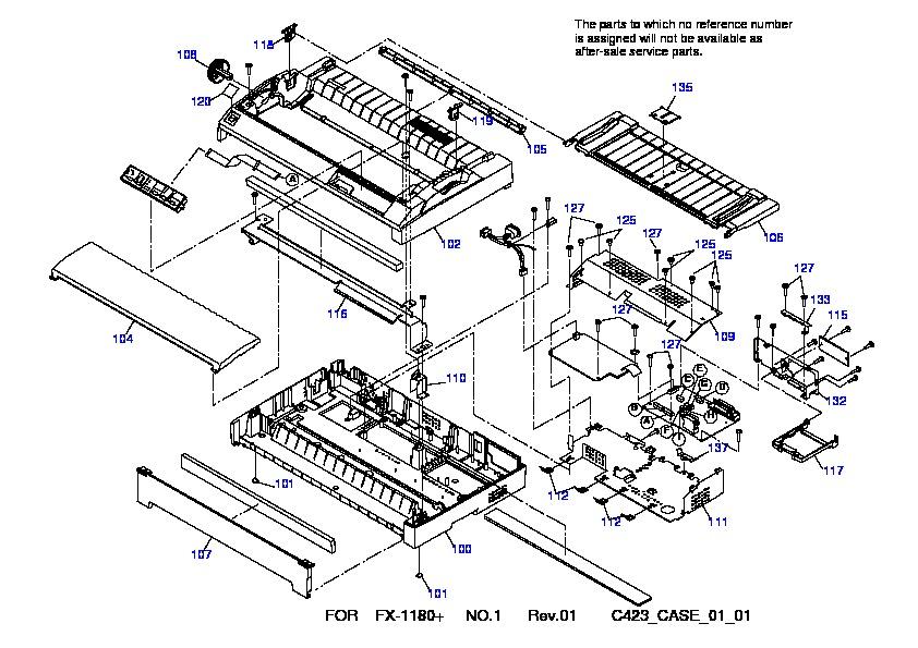 epson fx 1180  fx 1180  despiece pdf diagramas de