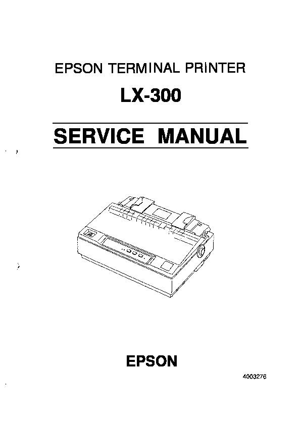 Epson Service Manual Epson Lx 300 Pdf Diagramas De