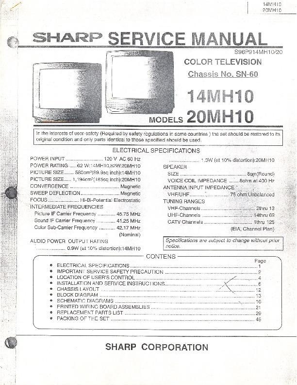 Sharp 14M - H10 Chasis SN - 60.pdf