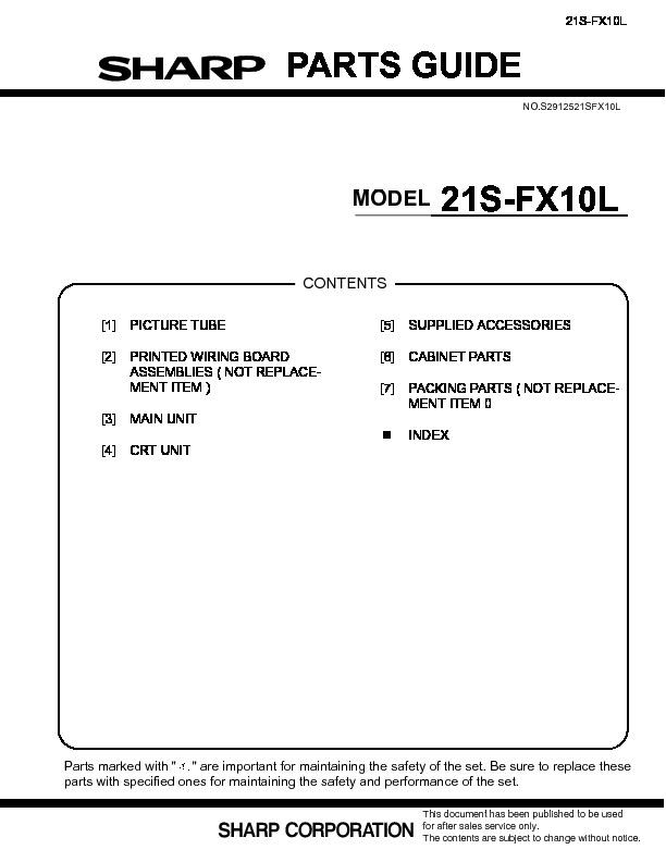 Sharp 14A1 S Инструкция