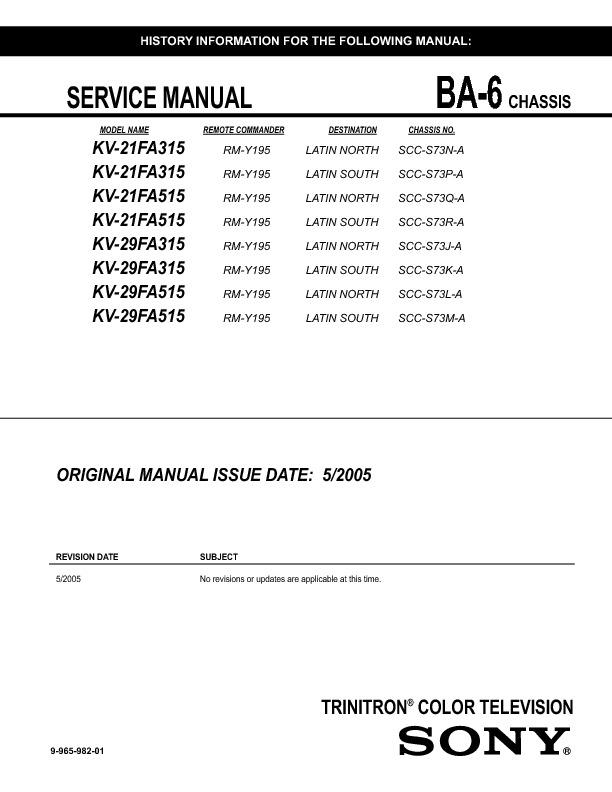 KV-21FA315 KV-21FA515 KV-29FA315 KV-29FA515 BA-6 mod kv14fv300 chassis ba6-5.pdf