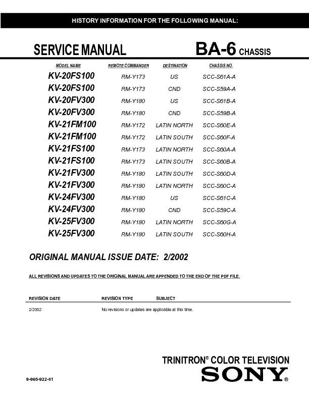 KV-21FM100 KV-21FS100 KV-21FV300 KV-25FV300.pdf
