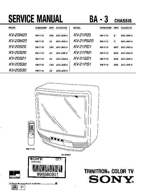 Sony KV - 20M20 Chasis BA - 3 ..pdf
