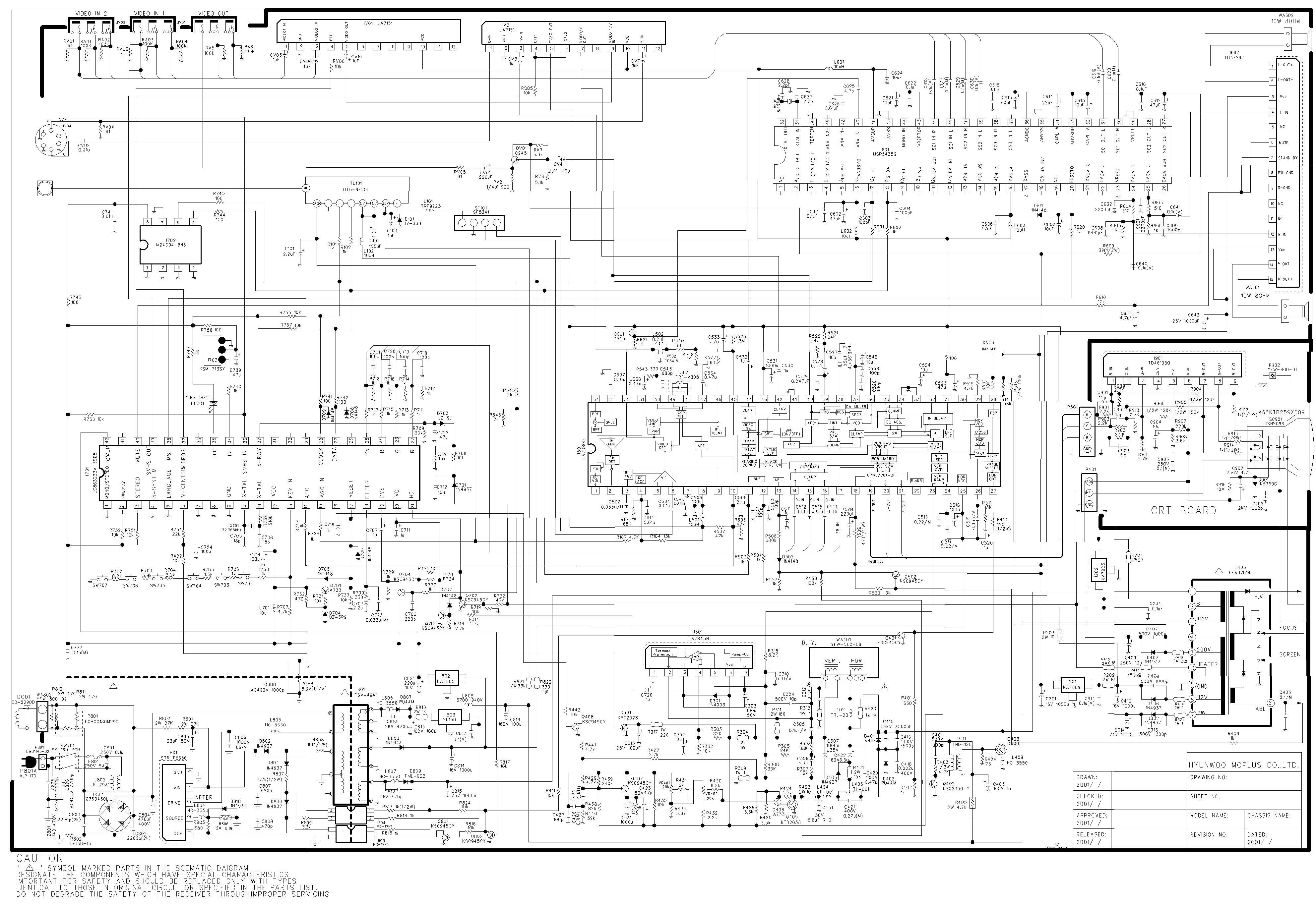 Chasis H-902F - STR-S5707_LC863232V-5508_MSP3440G-B6_LA76805_LA7841K_TDA7267A - Hitachi CDH-29GS5.pd
