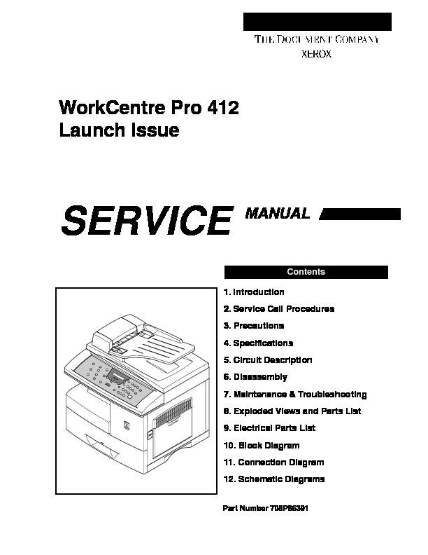 xerox xeros 412 xerox work centre 412 us pdf diagramas de