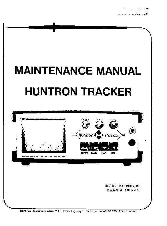 Diagramas Huntron_Tracker_1005-Mantenimiento.pdf instrumental ...