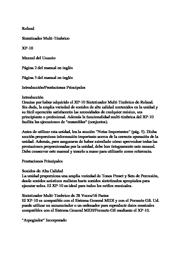 ROLAND XP-10.PDF
