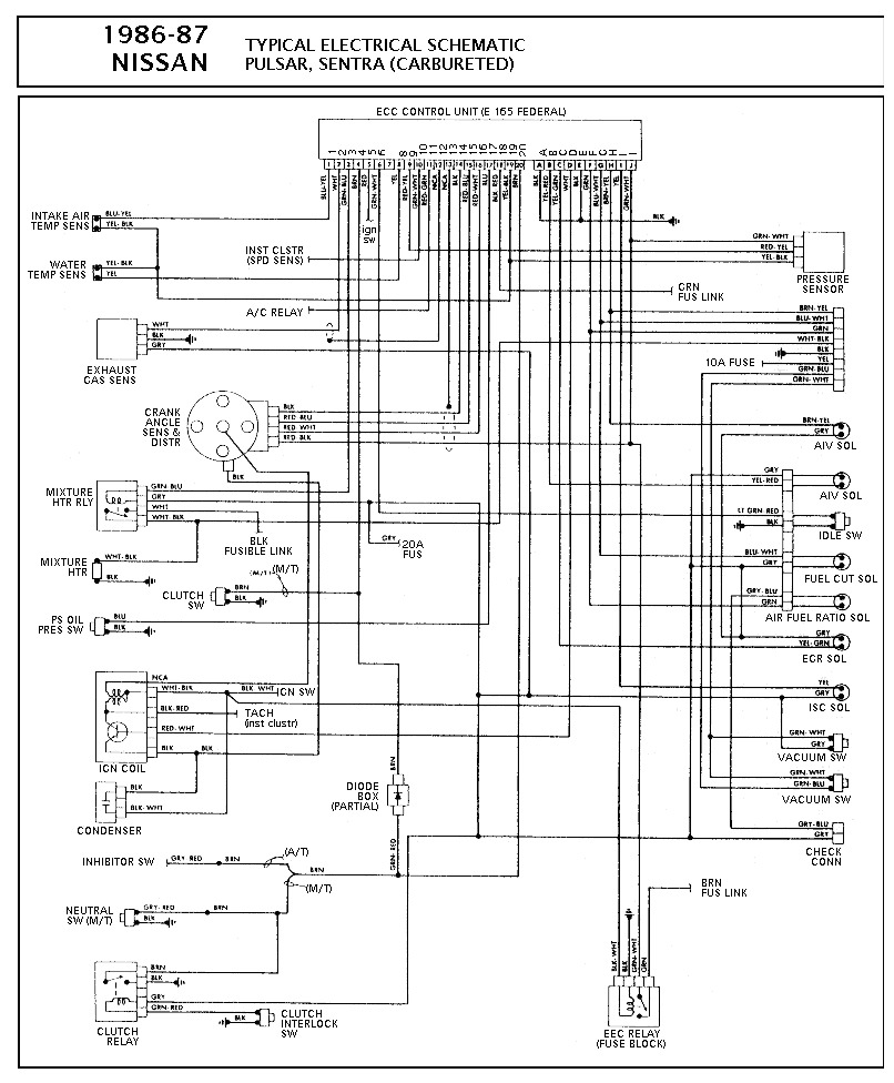 nissan nissan sentra carbureted pcm wiring diagram gif diagramas de autos diagramasde
