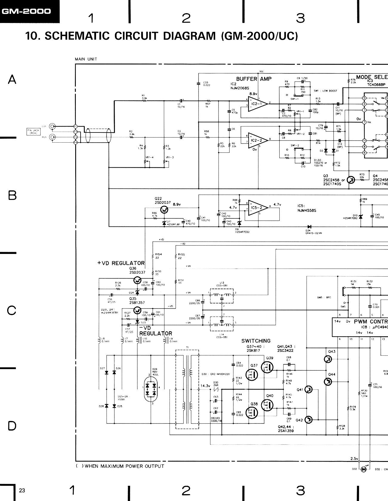PIONEER       GM       1000    2000    Pioneer       GM       1000    2000 pdf Diagramas de