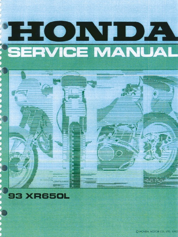 0 - Front Cover-Introduction XR650L.pdf
