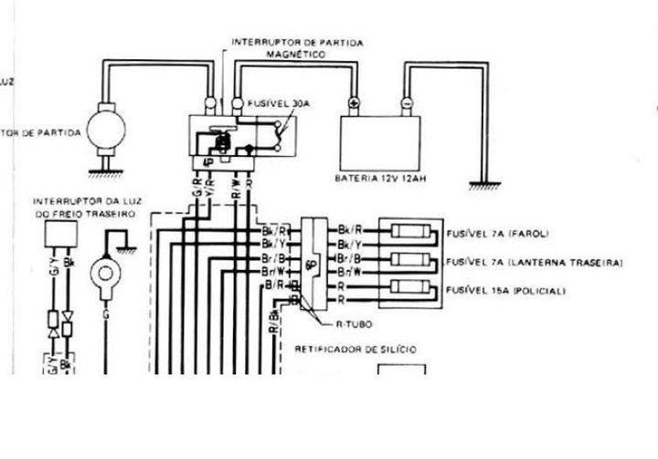 diagrama electrico honda xre  mecanica de motos chinas