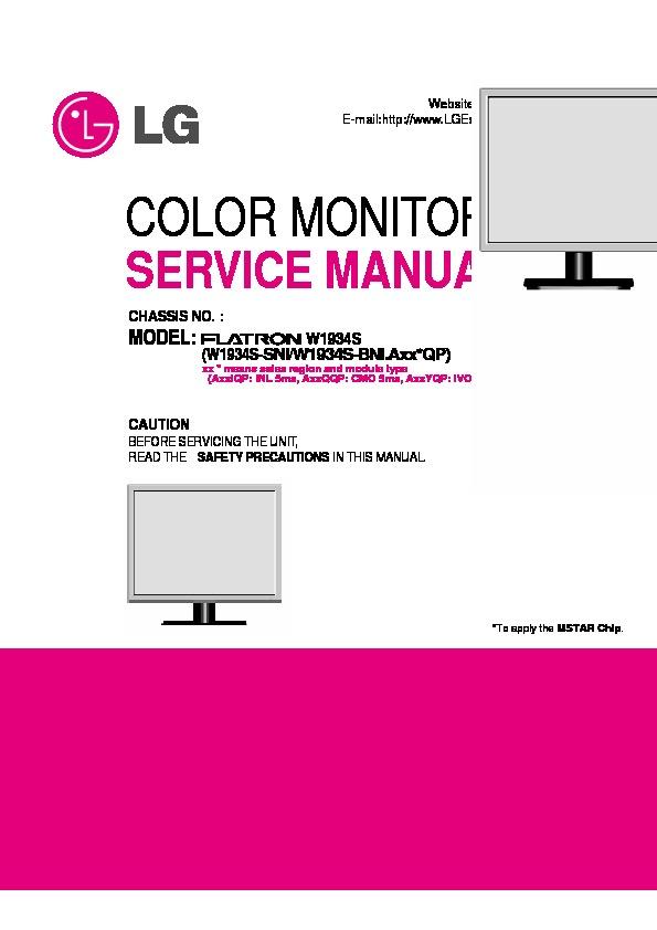 Lg Lg Flatron W1934s Monitor Lcd Lg Flatron W1934s Pdf Diagramas De Monitores