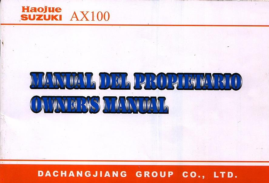 Manual Propietario Suzuki AX 100.pdf