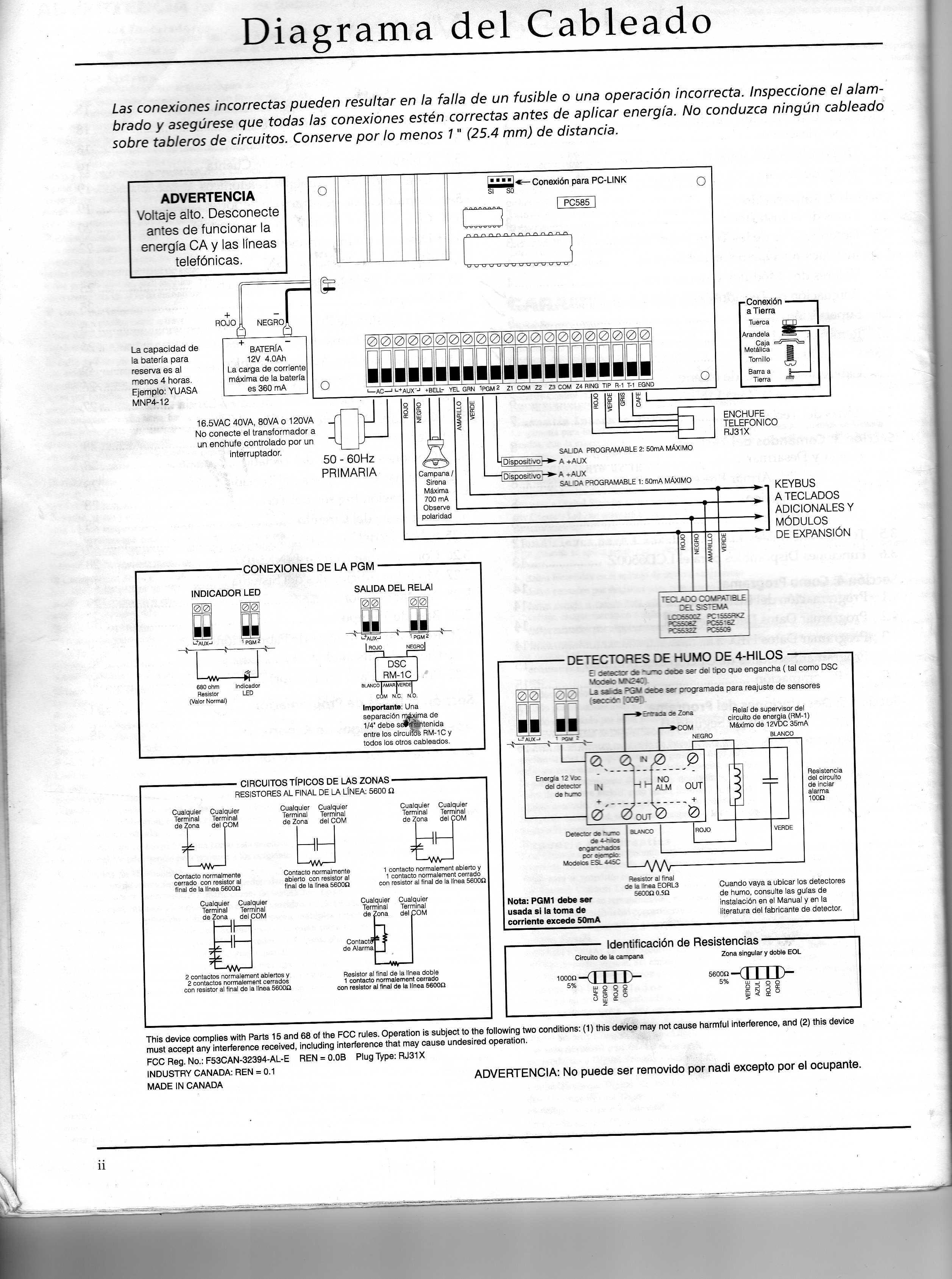 Dsc Classic Pc585 Img012 Jpg Diagramas De Alarmas