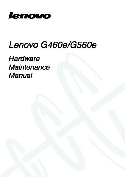 Lenovo G460eG560e Hardware Maintenance Manual V1.0.pdf