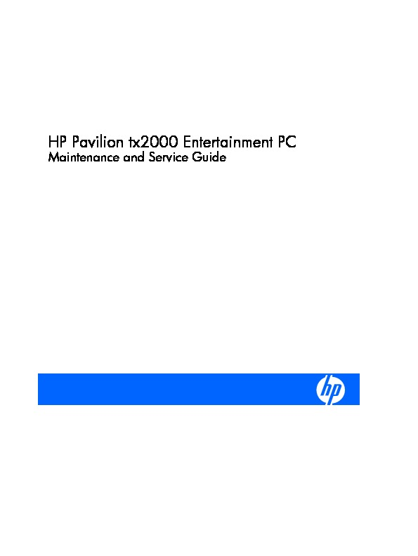 service-manual-HP-Pavilion-tx2000.pdf