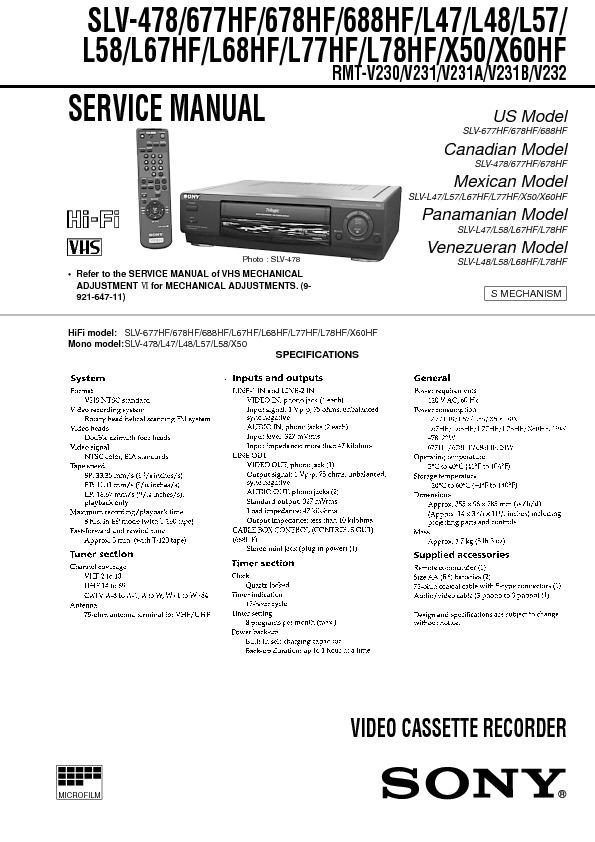 Sony...SLV-478_677HF_678HF_688HF_L47_L48_L57_L58_L67HF_L68HF_L77HF_L78HF_X50_X60HF.pdf
