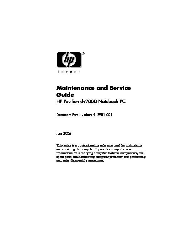 HP Pavilion DV2000.pdf