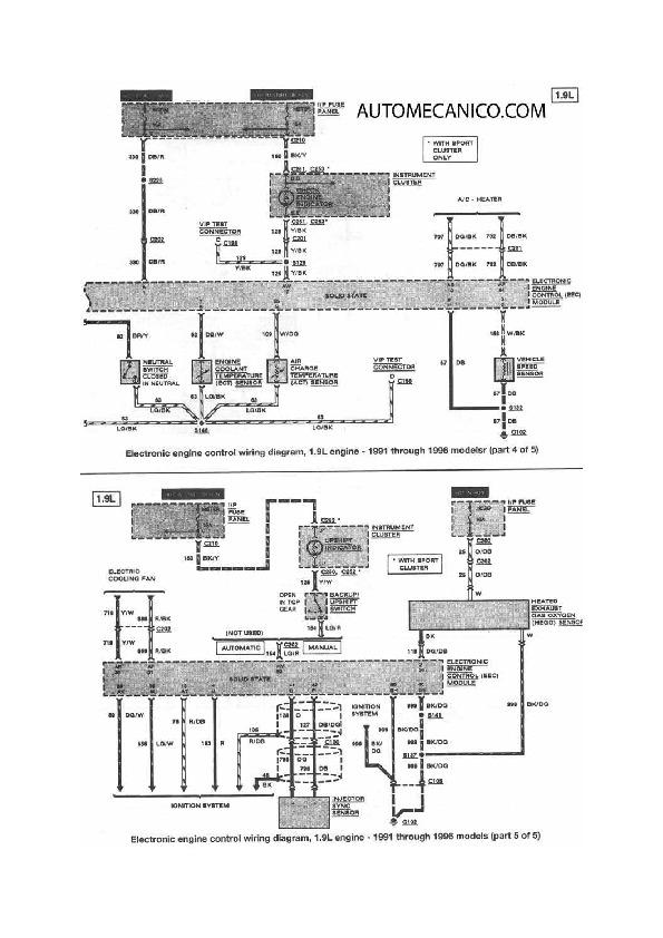 Ford Escort 13  48 Fordesc8 Pdf Diagramas De Autos