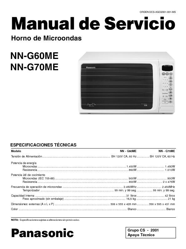 Microondas Panasonic NN-G60ME, NN-G6070-ME..pdf