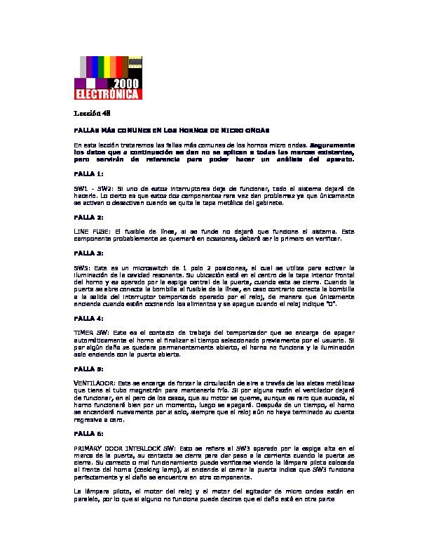 Fallas comunes en el microondas.pdf