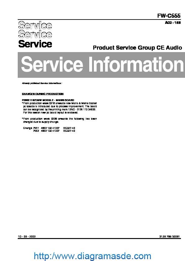 Philips Fw C555 Service Information Pdf Philips Fw C555