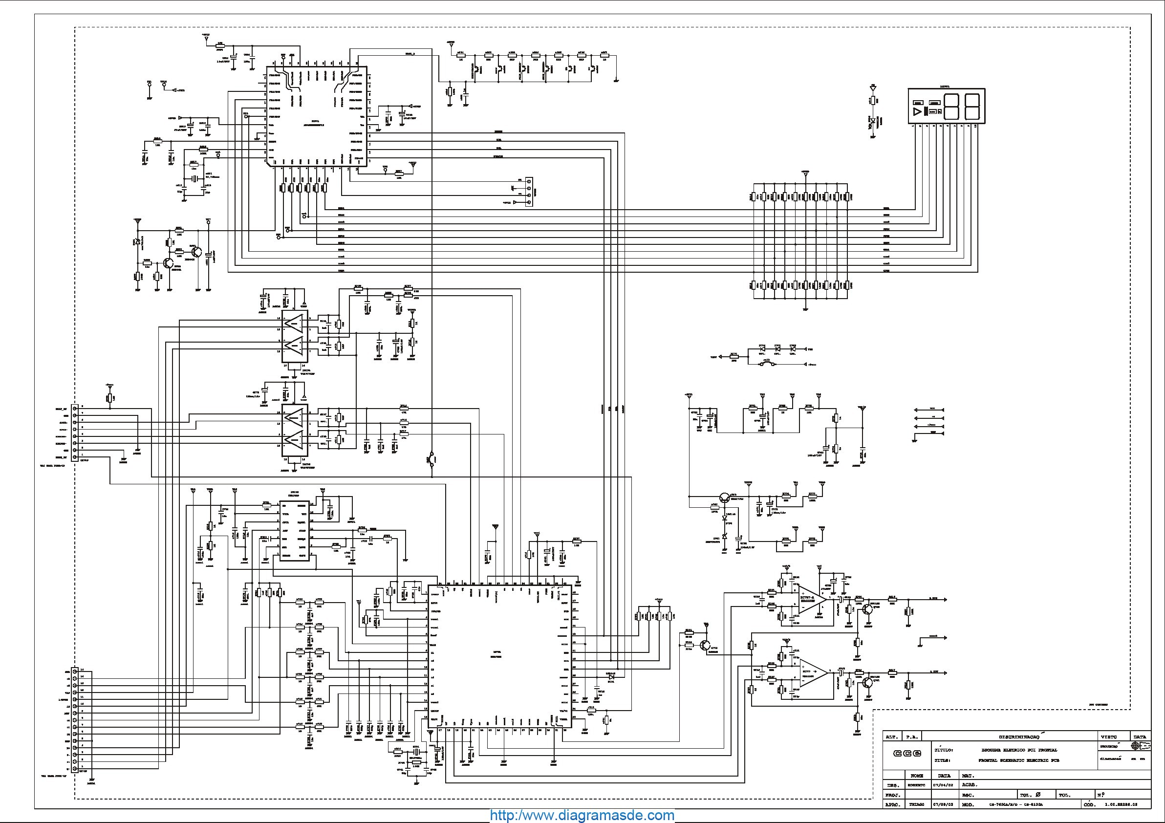CCE Audio CS-7600D Diagrama Esquematico.pdf