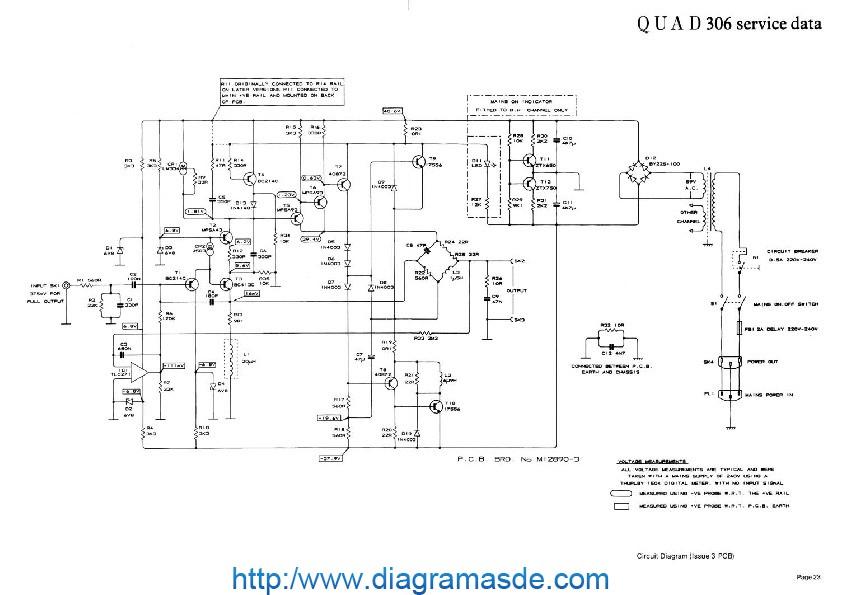110499_quad-306-schematicpdf Quad Schematic on electronic circuits, metal detector, power supply circuits, block diagram, tube guitar amp, high voltage, guitar pedal,
