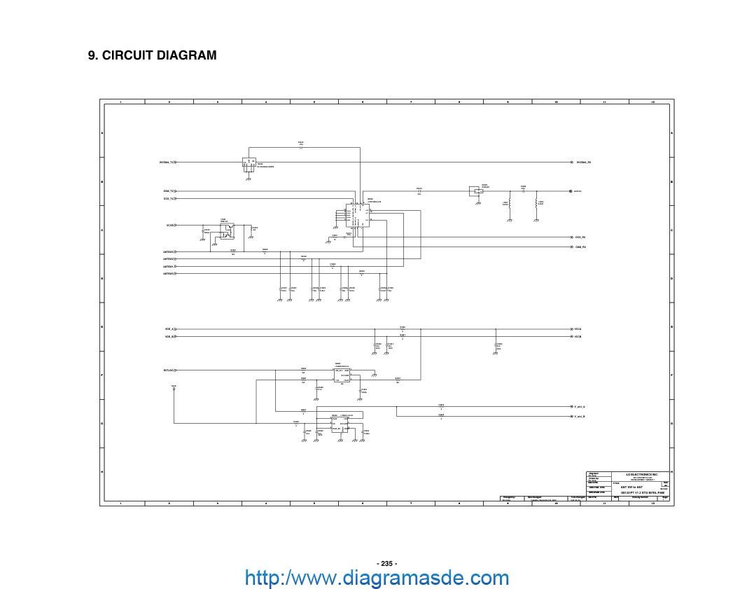 Diagrama Del Celular Lg Lg Celular U8130 Diagrama Esquematico