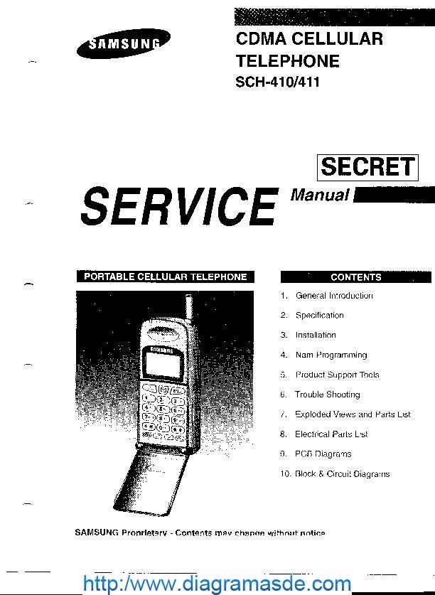 diagrama del celular samsung sch 410 service manual